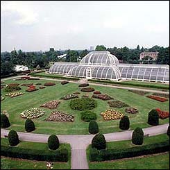 Palm House and Formal gardens in Kew