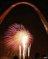 Fireworks at the Arch, St Louis, Missouri