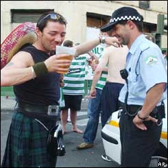 Celtic fan and policeman