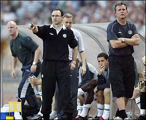 Martin O'Neill shouts orders from the touchline