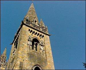 The cathedral at tiny Llandaff attracted hundreds of church-goers