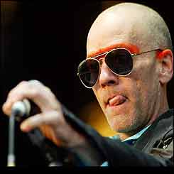 Lead singer of REM Michael Stipe