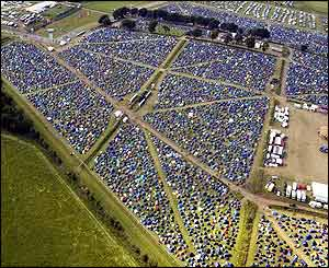 Bird's eye view of T in the Park