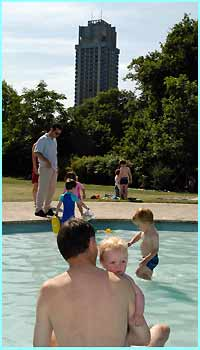 A great way to cool down in the summer heat - find a lido and splash around!