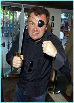 Paul Ross, film critic, celeb Fame Academy student and now - a pirate?