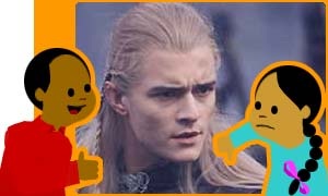 Orlando in Lord of the Rings as Legolas the elf