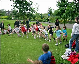 Glasgow Gaelic sports day in the city's Kelvingrove Park, sent by Caroline