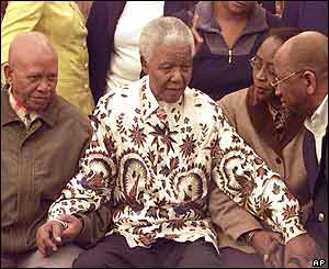 Nelson Mandela and senior members from the African National Congress