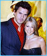 Jeremy Edwards and Rachel Stevens