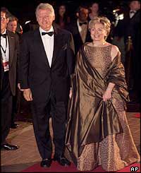 Former US President Bill Clinton and his wife, Hillary