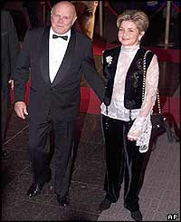 Former South African President F.W. De Klerk and his wife Elita Georgiades