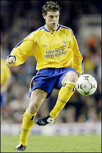 New Chelsea signing Wayne Bridge pictured playing for Southampton