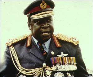 Idi Amin in army uniform