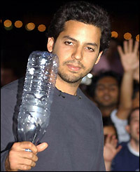 David Blaine before he went in the cube