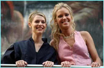 Female co-stars Claire Danes and Kristanna Loken were on hand to turn a few heads
