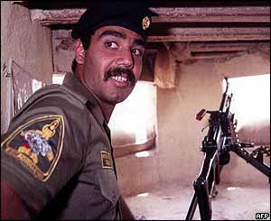 Uday Hussein (image: 1990, during invasion of Kuwait)