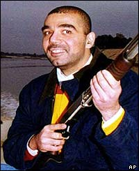 Uday Hussein poses for the cameras (image: December 2000)
