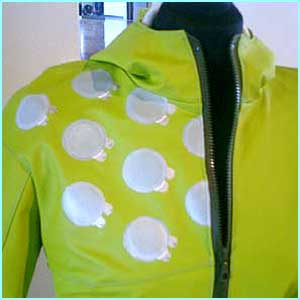 The Puddlejumper makes the wearer part of rain's rhythm. The front circles are