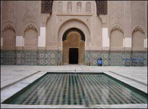 14th Century Ben Yusef Koranic School in Marrakech.