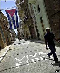 Old Havana street marked