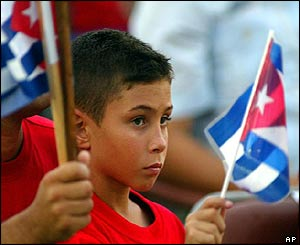 Elian Gonzales at the Santiago de Cuba celebrations