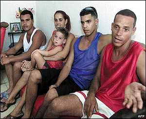 Cubans who failed in a bid to escape by sea to the US this week