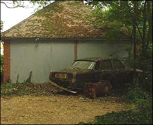 Dilapidated car
