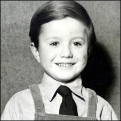 Tony Martin as a boy