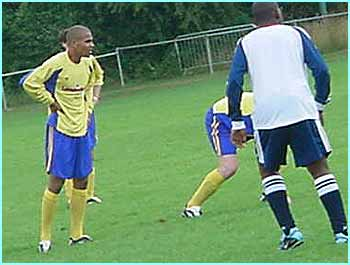He was playing in a team with So Solid's Harvey, who smashed a hat-trick against a team from Choice FM
