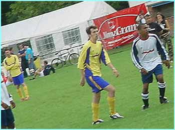 There was also celeb football, and where there's celeb football, there always seems to be Ralf Little