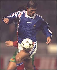 Zinedine Zidane in action for France