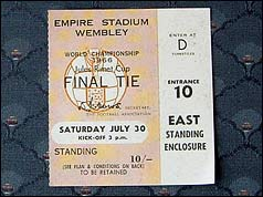 Mr Crisp's 1996 World Cup final ticket