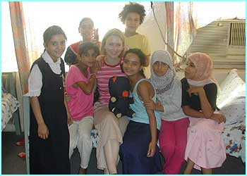 They heard the stories from lots of children, including these girls who live in an orphanage in Baghdad