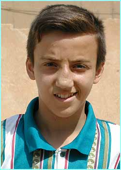 Karam, 13, says he loves footie and says Beckham is his hero