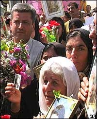 Relatives of Halabja victims
