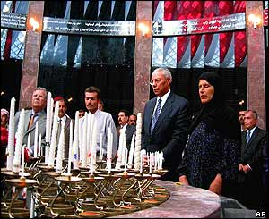 Colin Powell at Halabja memorial