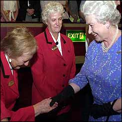 Queen meeting one of the stewards