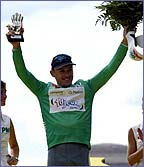 Australian speed-machine Baden Cooke edged the 2003 green jersey