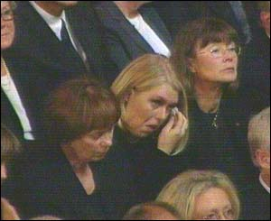 Tearful mourners