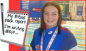 Kerri-Anne Payne, 15, is a top swimmer