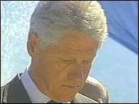 Bill Clinton at memorial ceremony in Srebrenica