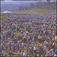 crowd at Srebrenica ceremony