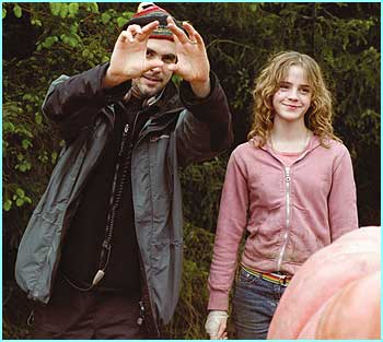 The third Potter film has a new director, Mexican Alfonso Cuaron, here telling Emma Watson what to do
