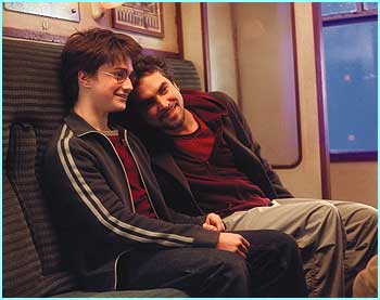 It looks like Daniel gets on really well with Alfonso, here larking about on the Hogwarts Express