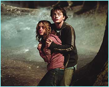 Harry helps Hermione from some nasty or another, could it be one of the Dementors?