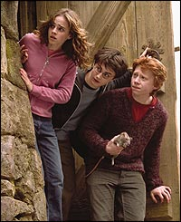 Emma Watson, Daniel Radcliffe and Rupert Grint in Harry Potter and the Prisoner of Azkaban