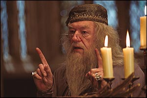 Michael Gambon as Dumbledore in Harry Potter and the Prisoner of Azkaban