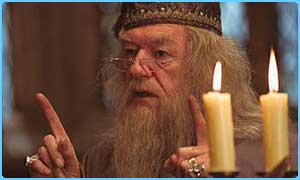 Sir Michael Gambon takes over as Professor Dumbledore