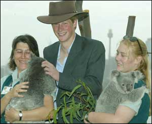This was a brief public appearance for the prince who will work on remote cattle and sheep stations