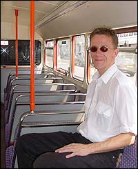 Bus conductor Gary Lloyd, 32